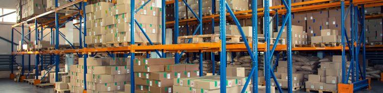 Sikkerhedsbarriere i forsendelseslager